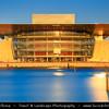 Europe - Denmark - Danmark - Copenhagen - Kopenhagen - København - Køpmannæhafn - Köpenhamn - Capital City - The Copenhagen Opera House - Operaen - National opera house of Denmark - One the most modern opera houses in the world