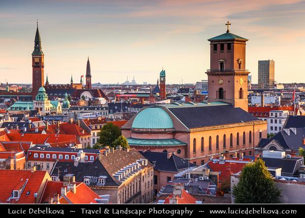 Denmark - Copenhagen - Kopenhagen - København - Køpmannæhafn - Köpenhamn - Capital City - City View from Rundetårn - Round Tower