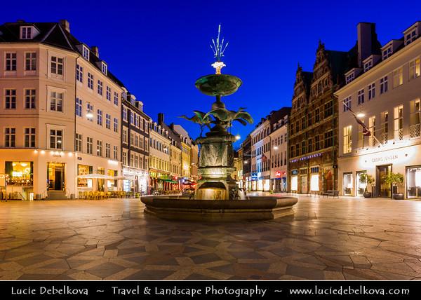 Europe - Denmark - Danmark - Copenhagen - Kopenhagen - København - Køpmannæhafn - Köpenhamn - Capital City - Amager Square - Amagertorv - Part of the Strøget pedestrian zone - Described as the most central square in central Copenhagen