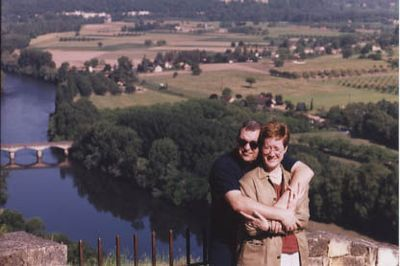 Friends of ours overlooking the Dordogne region
