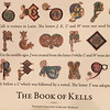 postcard showing some of the illuminated letters found in the Book of Kells