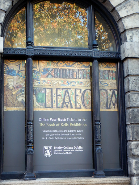 heading in to see the Book of Kells