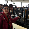 Robin, with a pint on the top (7th) floor (included in the $20 admission price to the Guinness Storehouse)