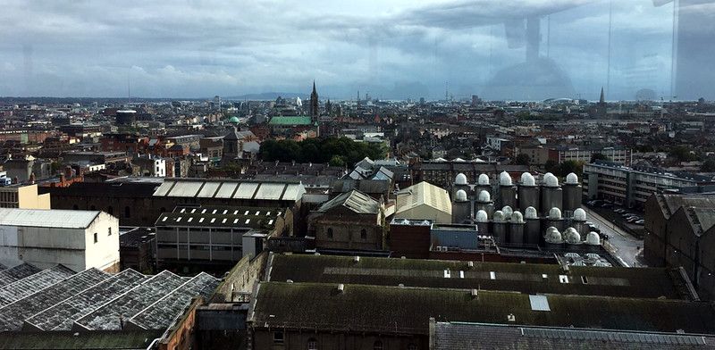 view from the 7th floor from one of the Guinness Storehouse windows