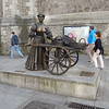 Molly Malone statue in from of St. Andrew's.
