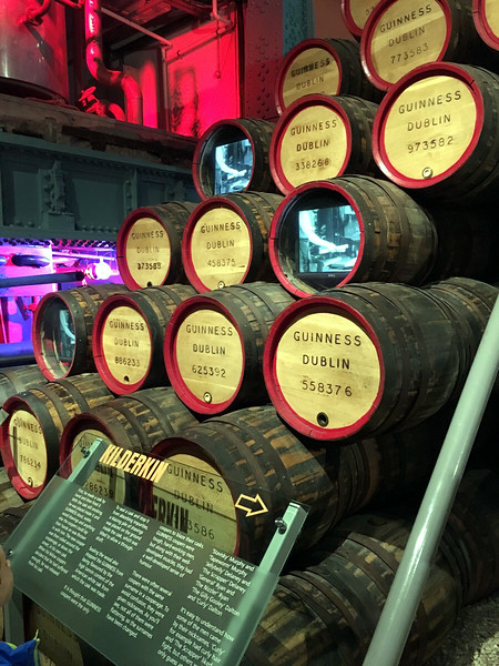 empty barrels at the Guinness Storehouse