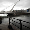 the Samuel Beckett bridge, shaped to resemble the iconic Irish harp.