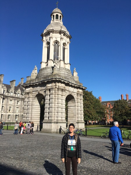Trinity College, Robin at the Campanile.