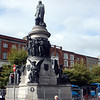Statue of Daniel O'Connell, a 19th century nationalist leader, after whom the street is named.