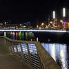 I stepped out for a few quick night photos, incluidng this one of the River Liffey, which flows through the city center.