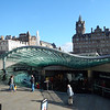 Waverley Station mall with Balmoral Hotel in background.
