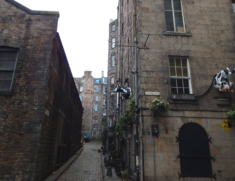 Cowgate street gets a little extra decoration on this building