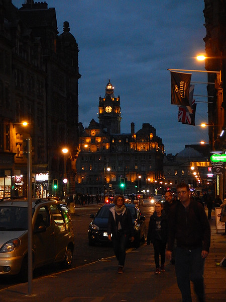 nightime in Edinburgh