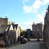 part of Holyrood Palace, at the end of the street