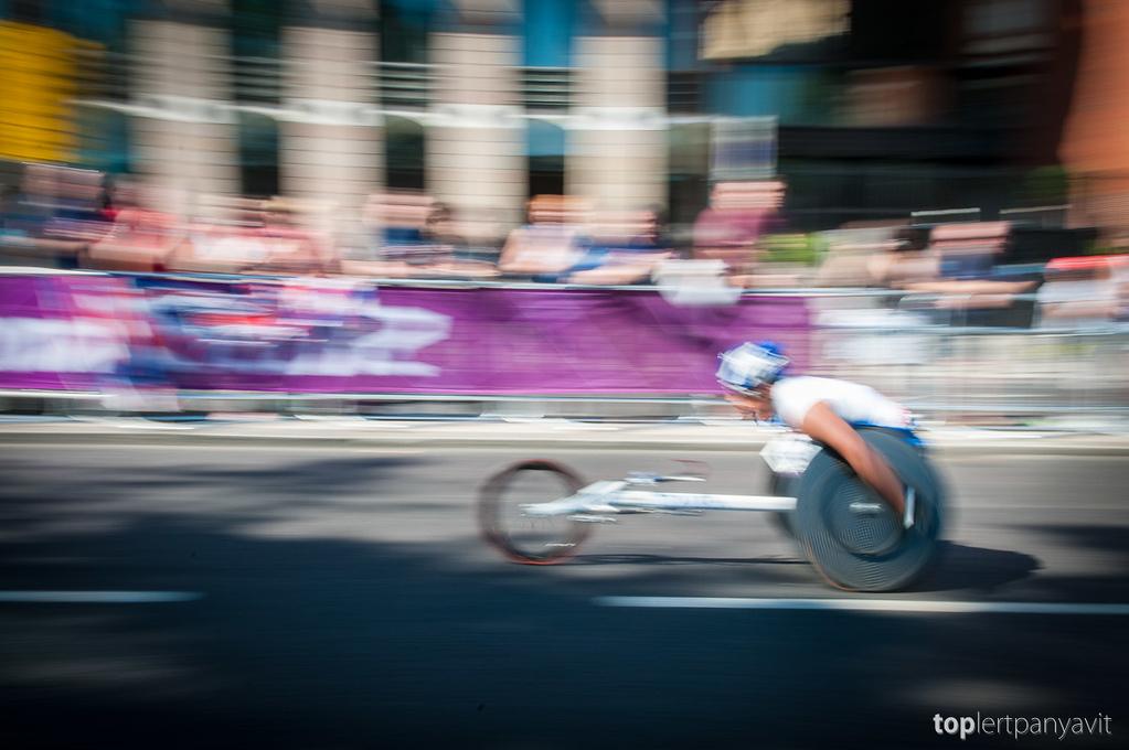 Paralympics T54 wheelchair marathon.