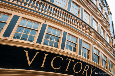 Admiral Lord Nelson's HMS Victory.