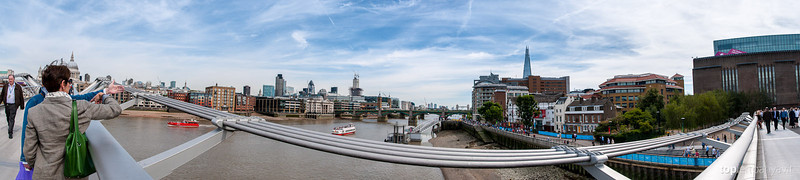 View from the Millenium Bridge in London.