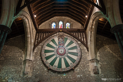 Imitation Arthurian Round Table in Winchester Hall.