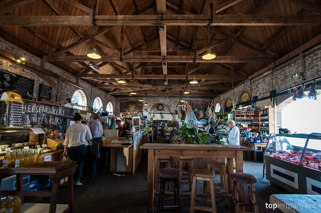 The Goods Shed market in Canterbury.