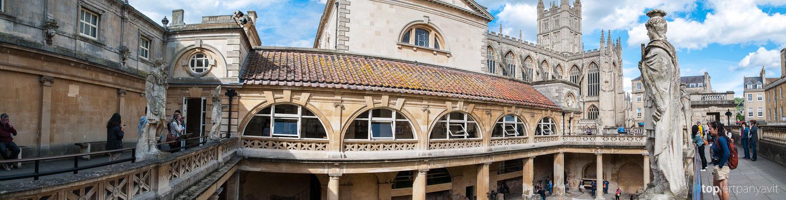 Roman baths in Bath.