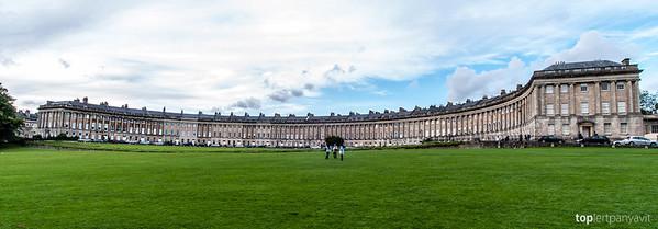 Royal Crescent in Bath.