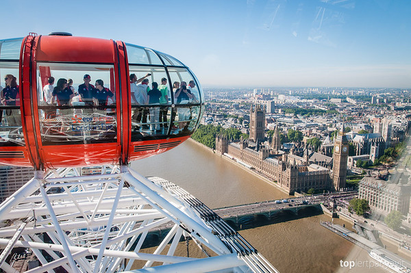 View from the London Eye.