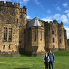 Robin's brother ,Todd, and sister-in-law, Marsha, at Alnwick Castle.