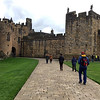 Alnwick Castle (ths walkway was used in two of the Harry Potter movies)