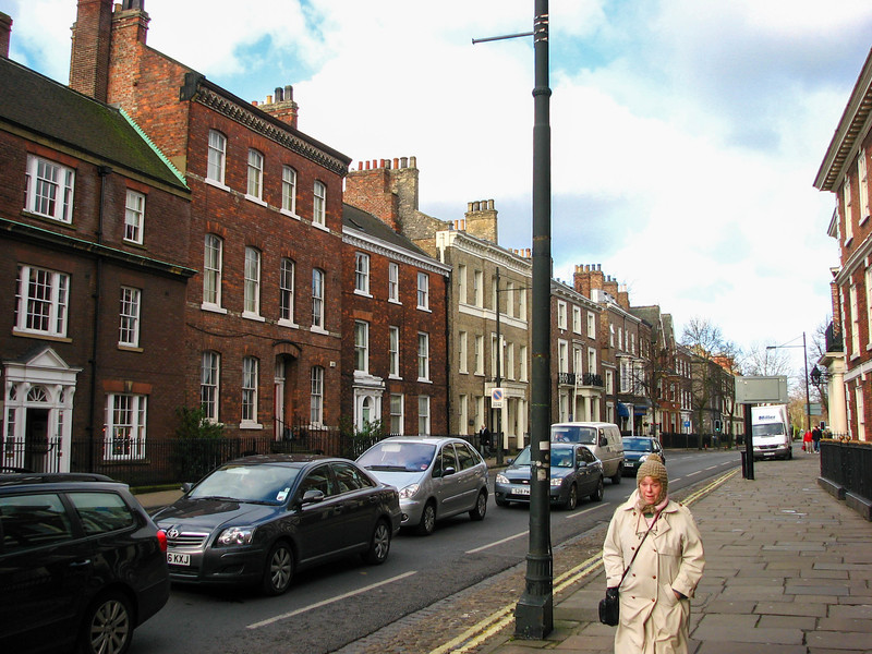 Townhouses on Bootham Road in York