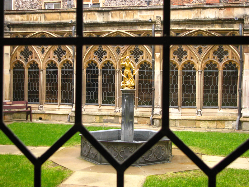 Courtyard inside St. George's Chapel at Windsor Castle