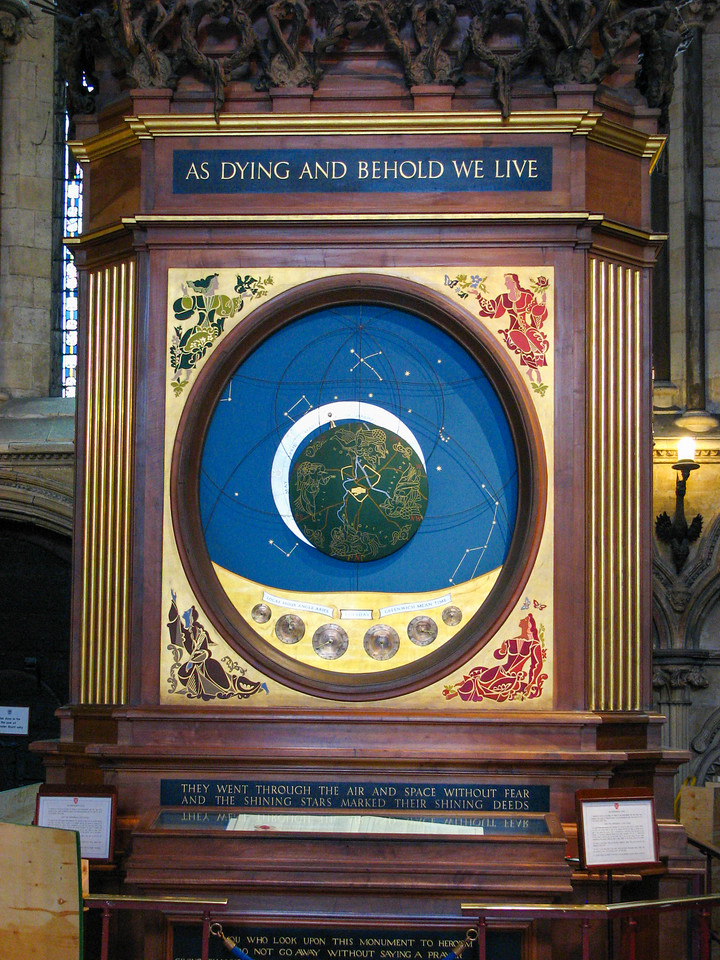 Astronomical clock in Yorkminster