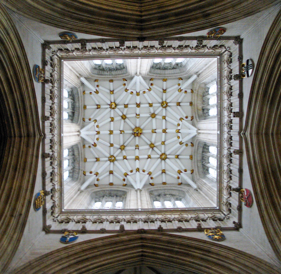 Looking up Yorkminster's central tower