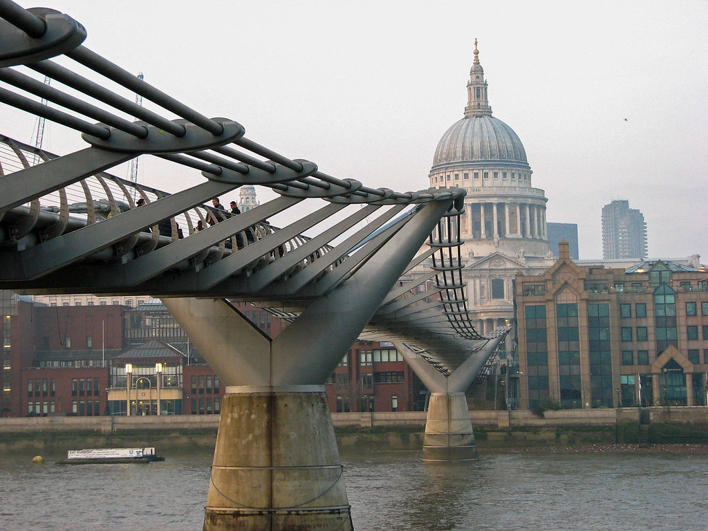 The Millennium Bridge and St. Paul's Cathedral