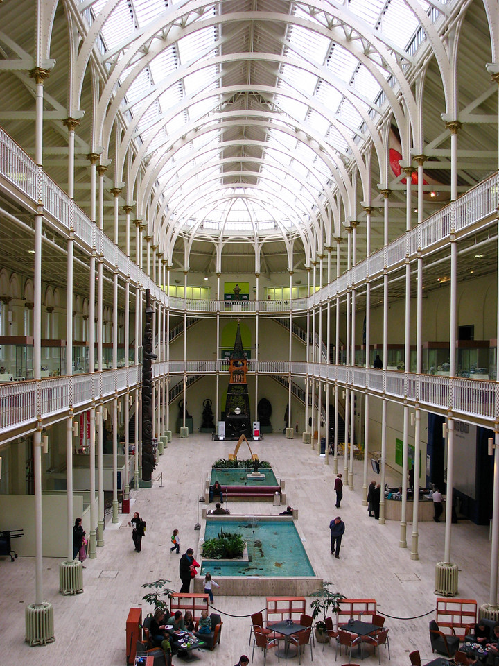 Atrium in the Museum of Scotland