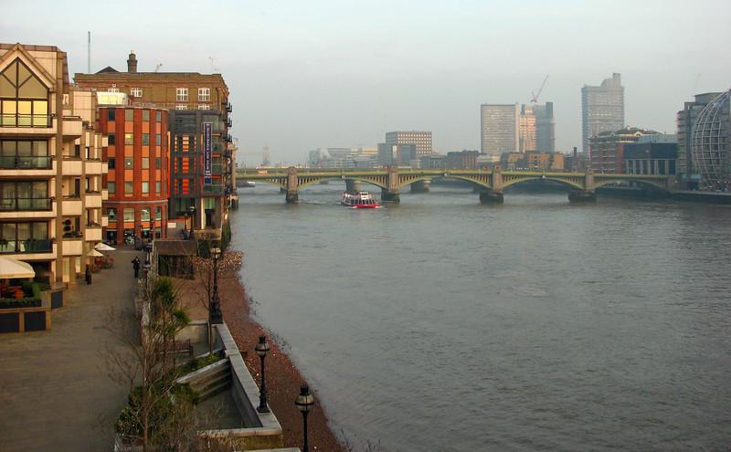 Looking toward the Southwark Bridge from the Millennium Bridge