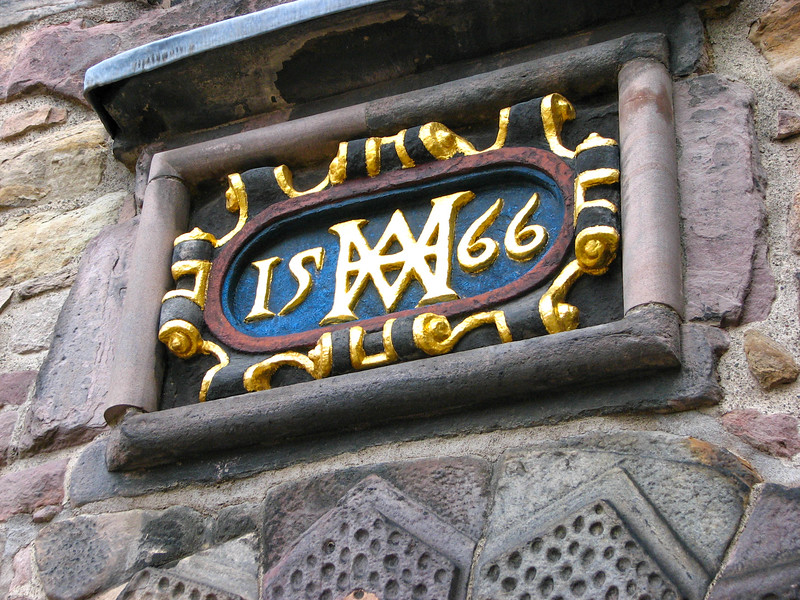 Edinburgh Castle - marker from 1566