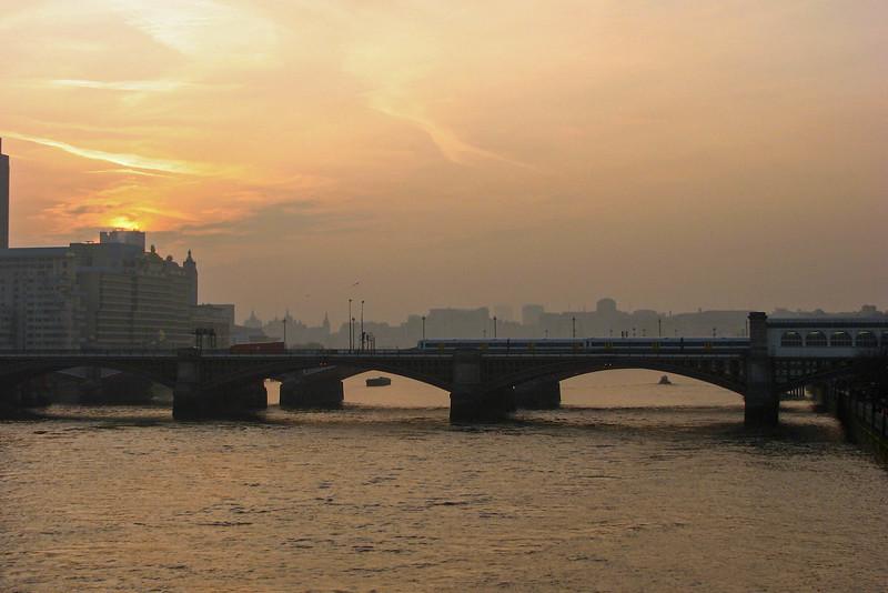 London at sunset, from the Millennium Bridge