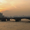 London at sunset, from the Millennium Bridge