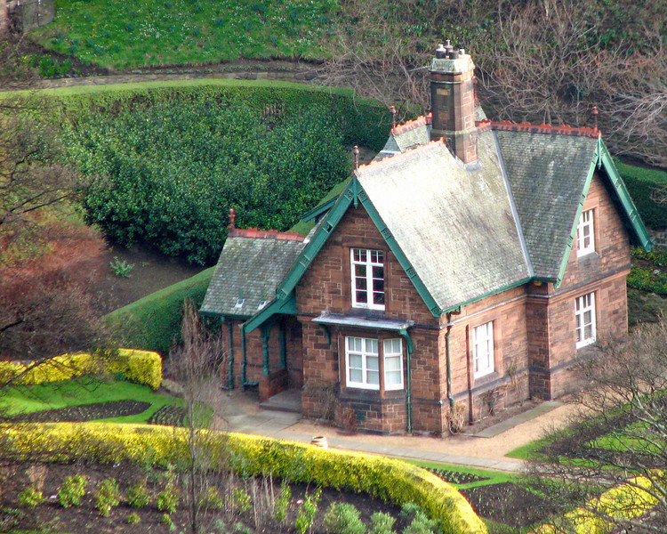 Cottage in Princes Street Gardens
