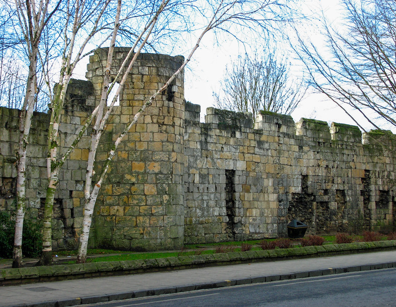 Ruins of the St. Mary's Abbey wall on Bootham Road