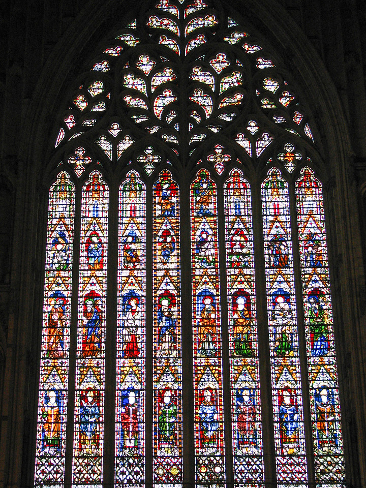 "Yorkminster windows -- ""The Heart of Yorkshire"""