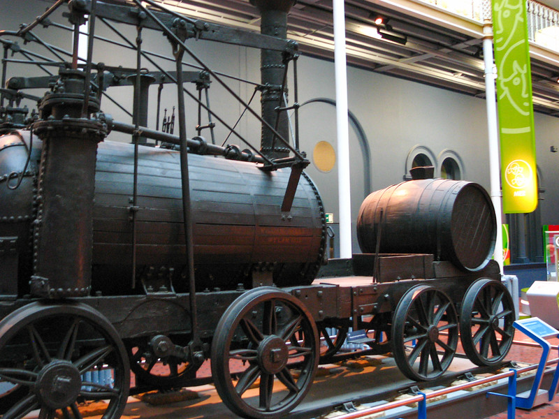 Locomotive in the Museum of Scotland