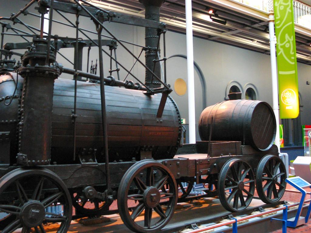 Locomotive in the Museum of Scotland