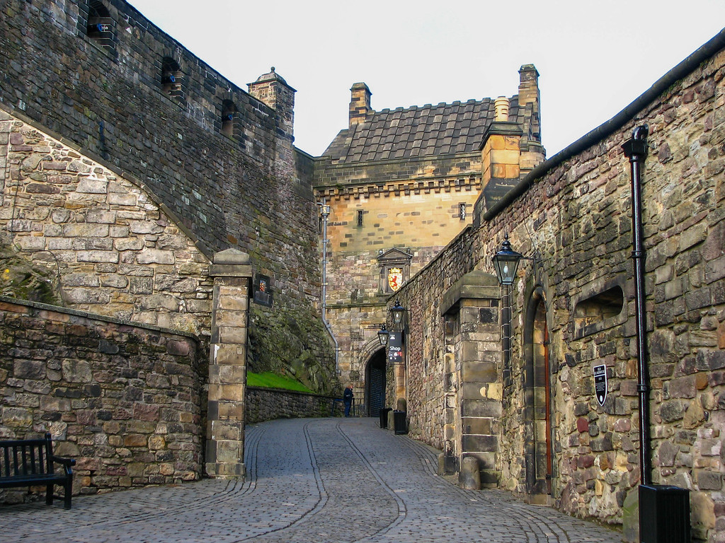 Walking through the gates of Edinburgh Castle
