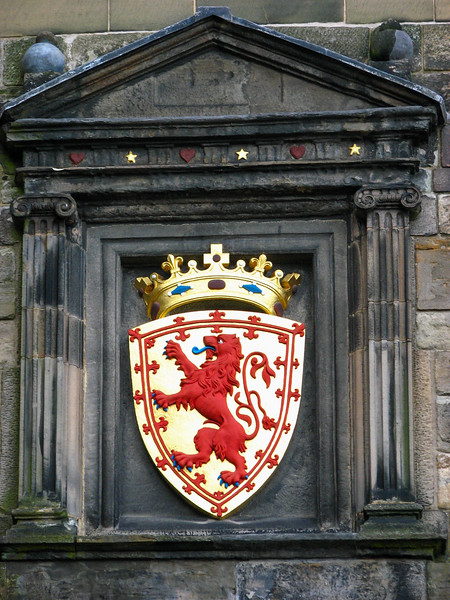 Crest in Edinburgh Castle