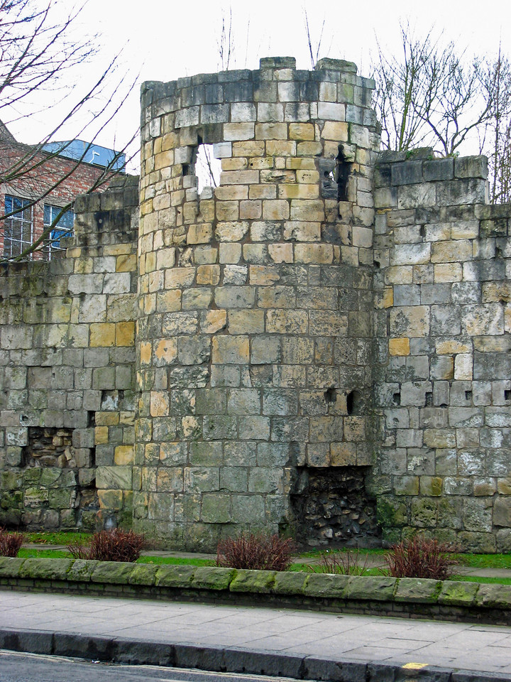 Ruins of the St. Mary's Abbey wall in York