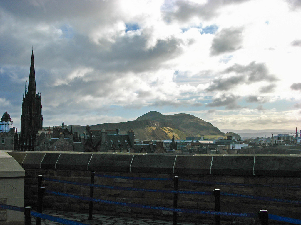 Arthur's Seat and Edinburgh, as seen from Edinburgh Castle