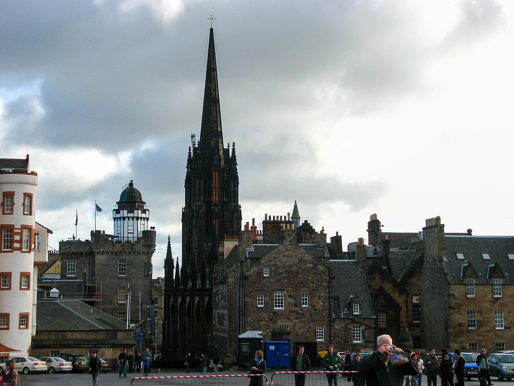 Looking back toward The Royal Mile from Edinburgh Castle