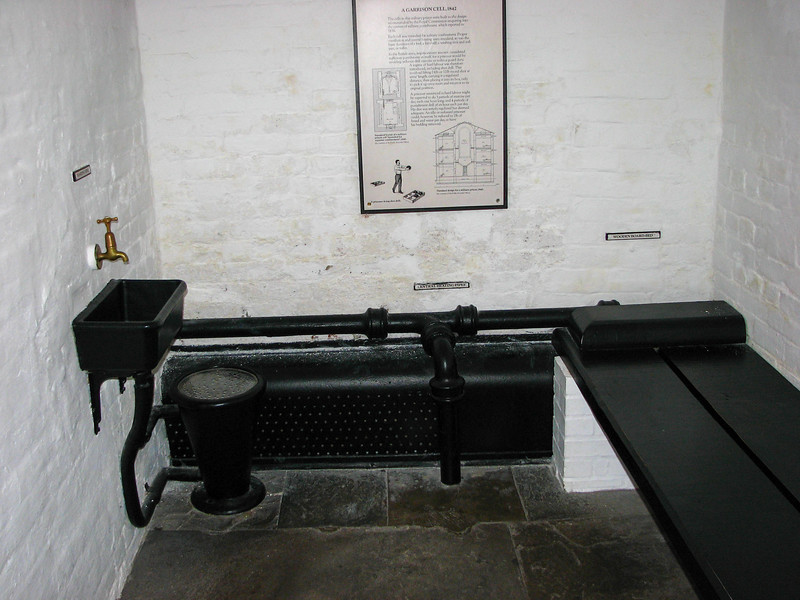 Military prison cell in Edinburgh Castle