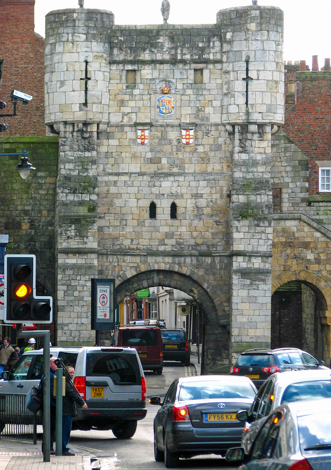 Bootham Bar, one of the entrances into the walled section of York